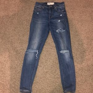 Garage high waisted ripped skinny jeans